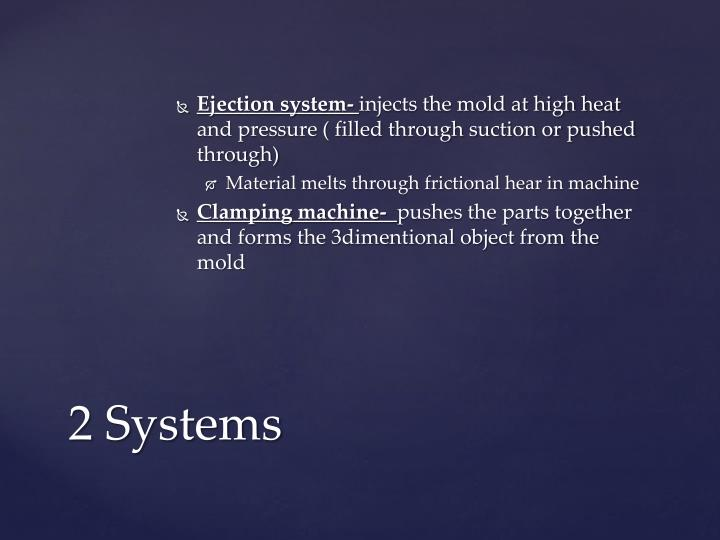 Ejection system-