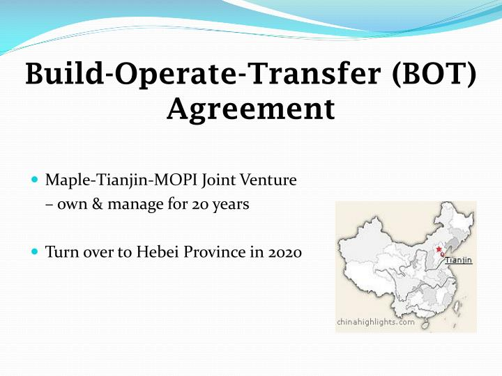 Build-Operate-Transfer (BOT) Agreement