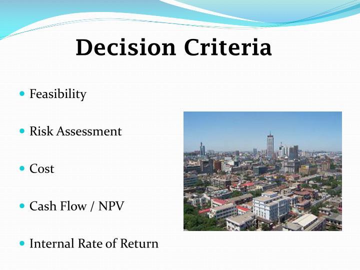 Decision Criteria