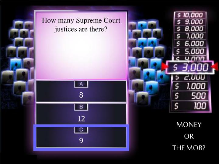 How many Supreme Court justices are there?
