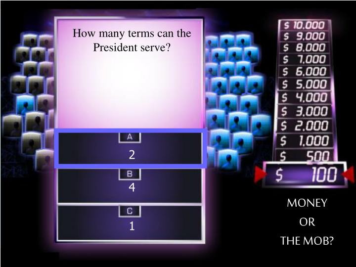 How many terms can the President serve?