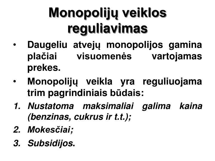 Monopolijų veiklos reguliavimas