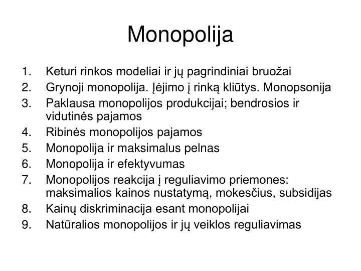 Monopolija