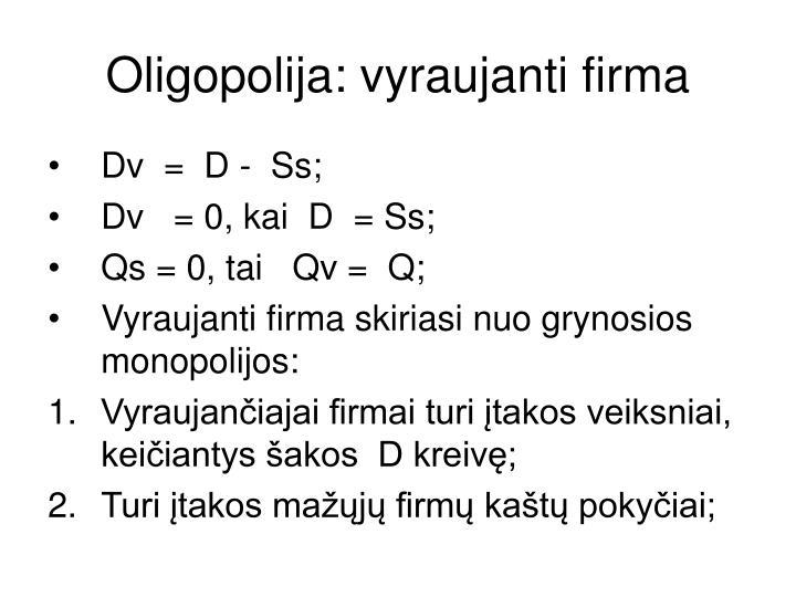 Oligopolija: vyraujanti firma
