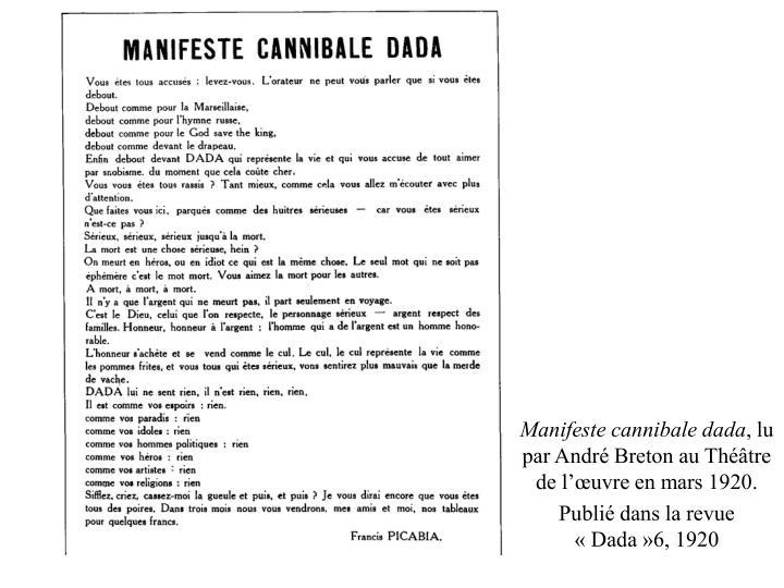 Manifeste cannibale dada
