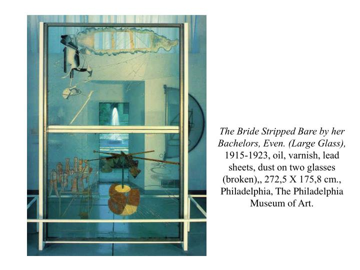 The Bride Stripped Bare by her Bachelors, Even. (Large Glass),