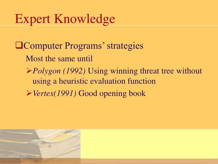 Expert Knowledge