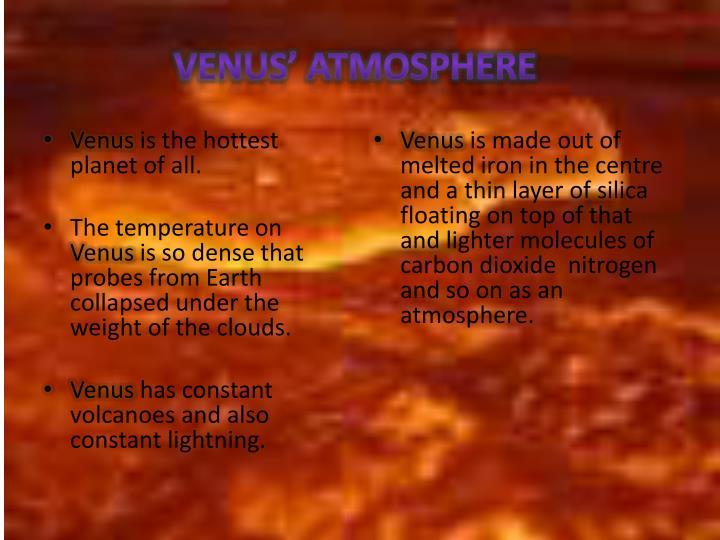 Venus' atmosphere