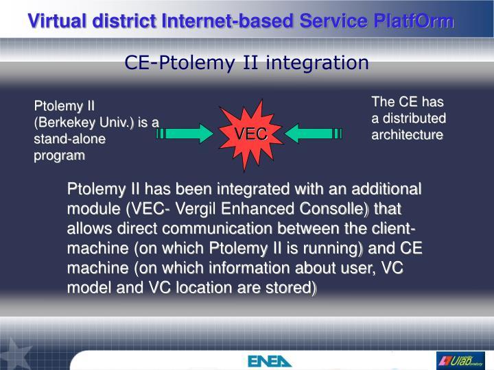 CE-Ptolemy II integration