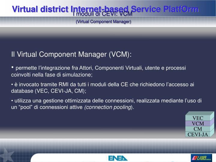 I moduli di CEVI: VCM