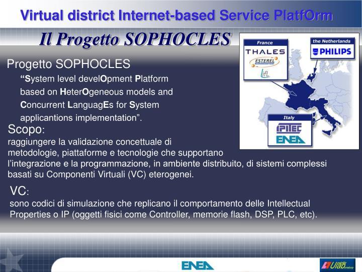 Il Progetto SOPHOCLES