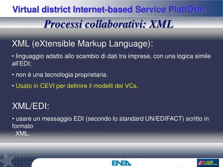 Processi collaborativi: XML