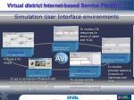 simulation user interface environments