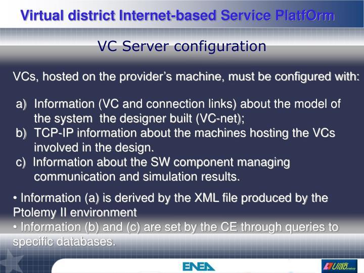 VC Server configuration