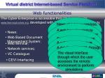 web functionalities