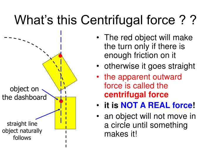 What's this Centrifugal force ? ?