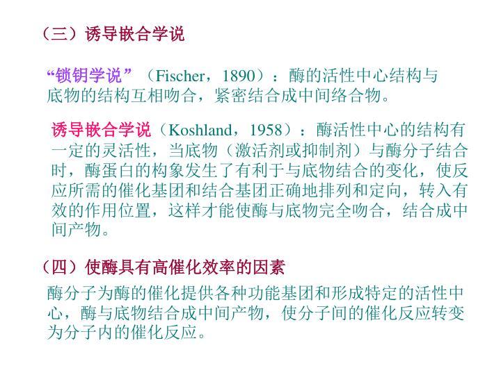 (三)诱导嵌合学说