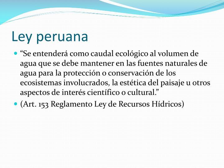 Ley peruana