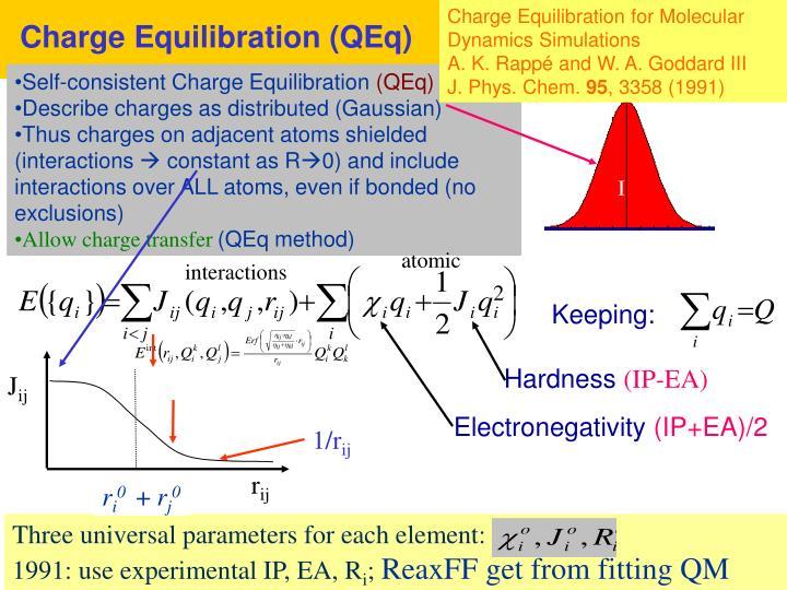 Charge Equilibration (QEq)