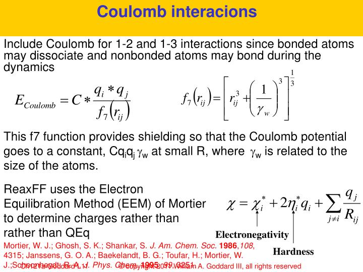 Coulomb interacions