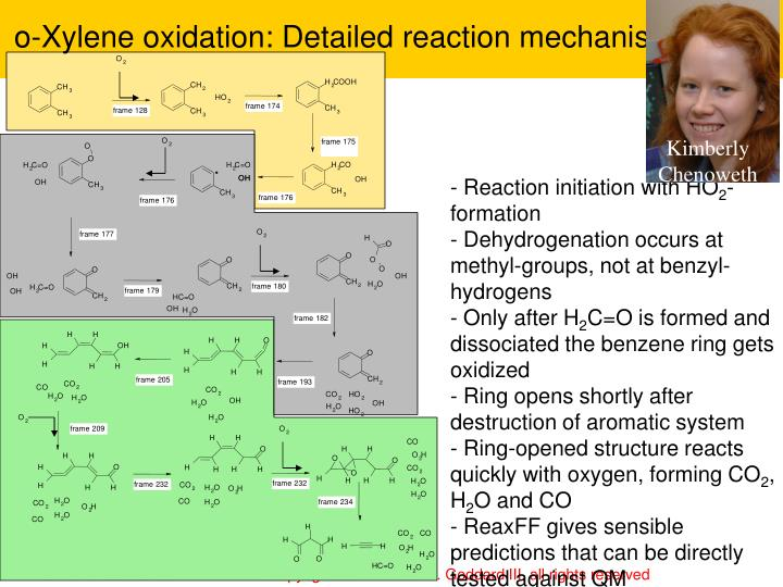 o-Xylene oxidation: Detailed reaction mechanism