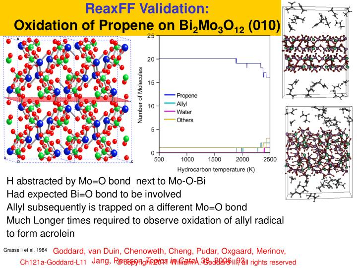 ReaxFF Validation: