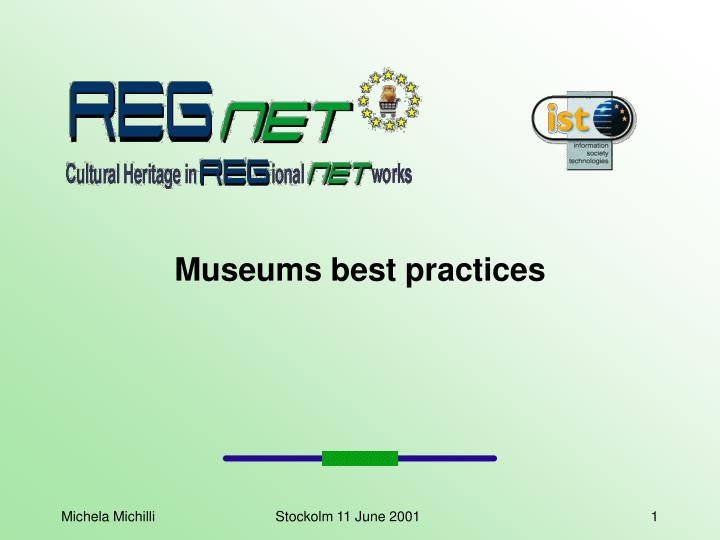 Museums best practices