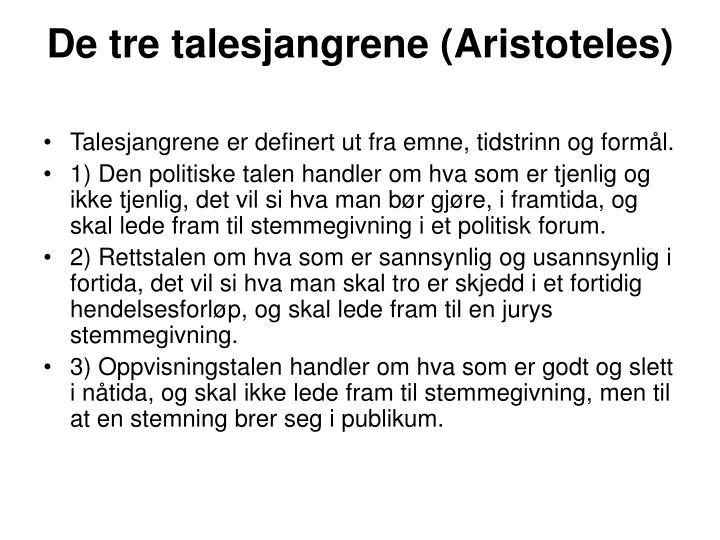 De tre talesjangrene (Aristoteles)