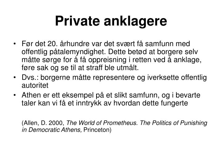 Private anklagere