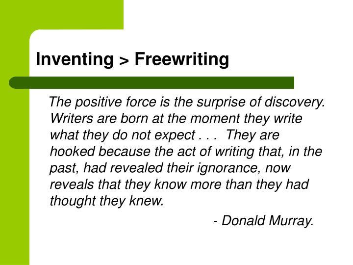 Inventing > Freewriting