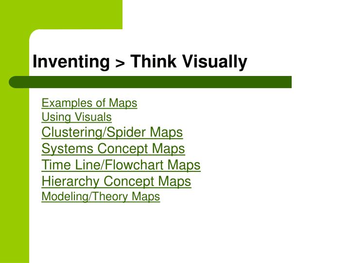 Inventing > Think Visually