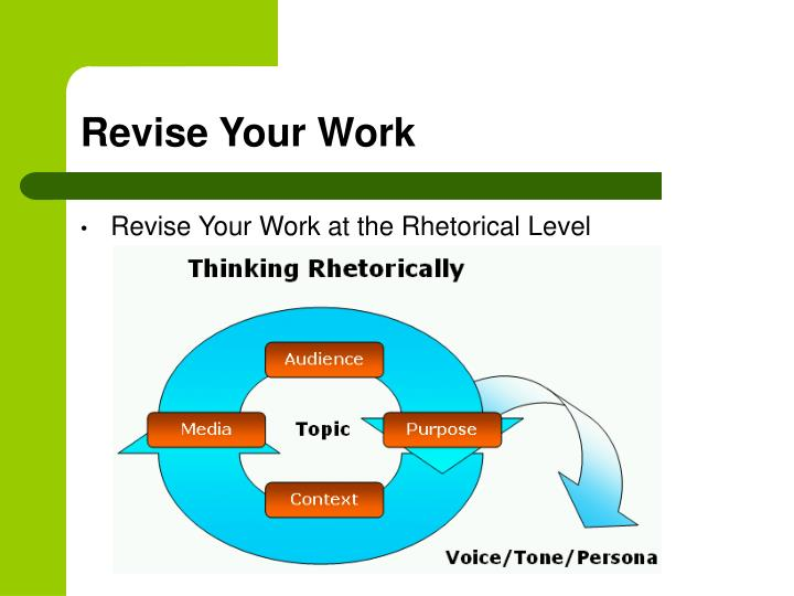 Revise Your Work