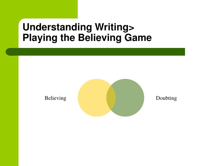 Understanding Writing>