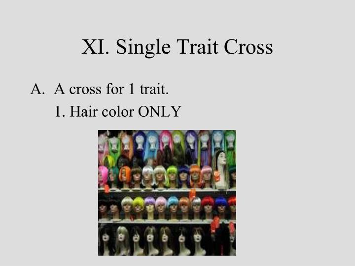 XI. Single Trait Cross