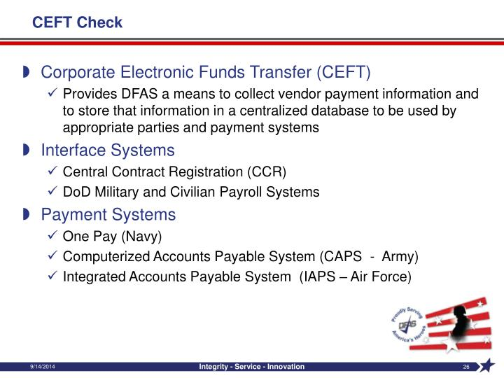 CEFT Check