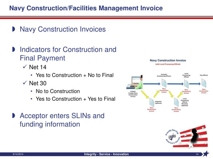 Navy Construction/Facilities Management Invoice