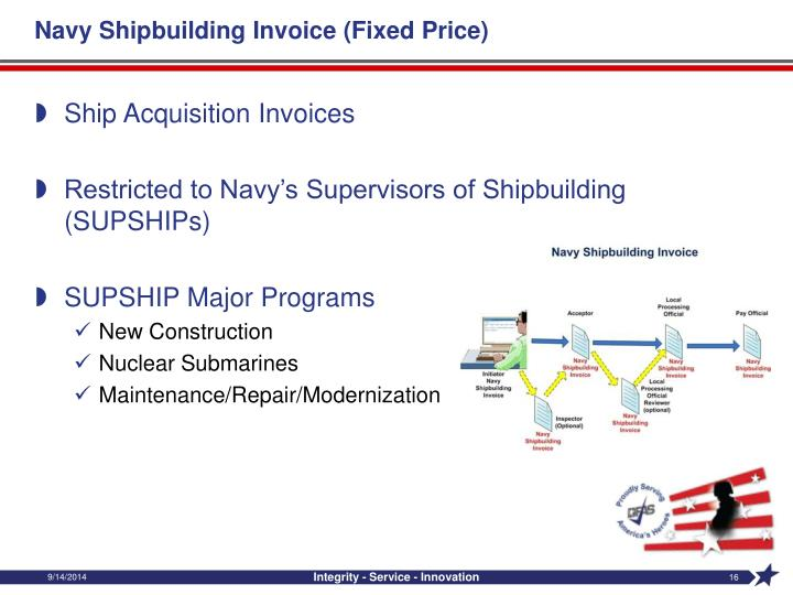Navy Shipbuilding Invoice (Fixed Price)