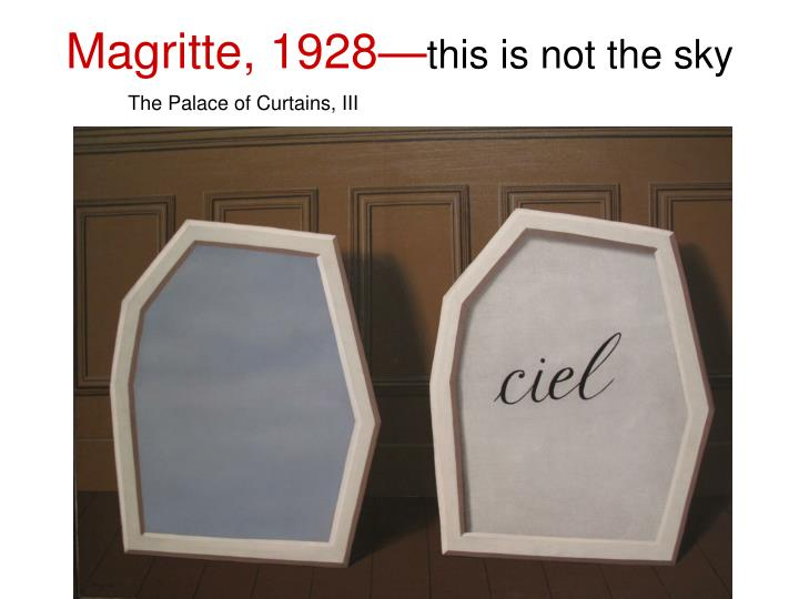 Magritte, 1928—
