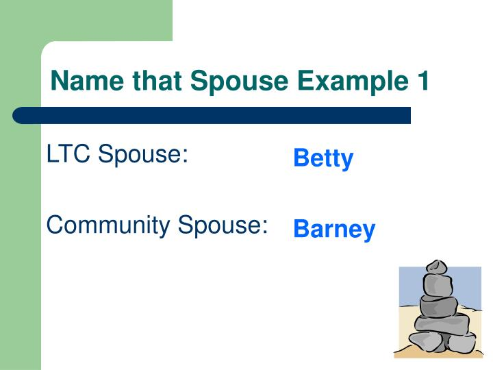 Name that Spouse Example 1