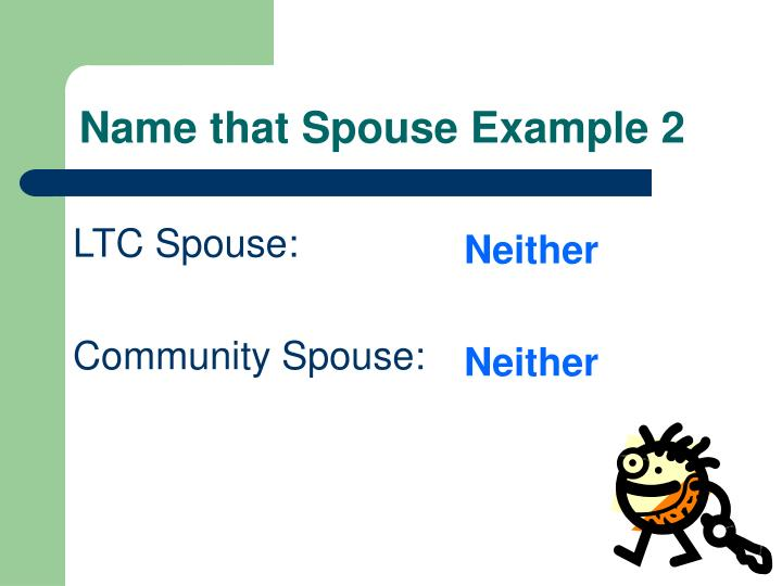 Name that Spouse Example 2