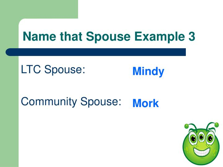 Name that Spouse Example 3