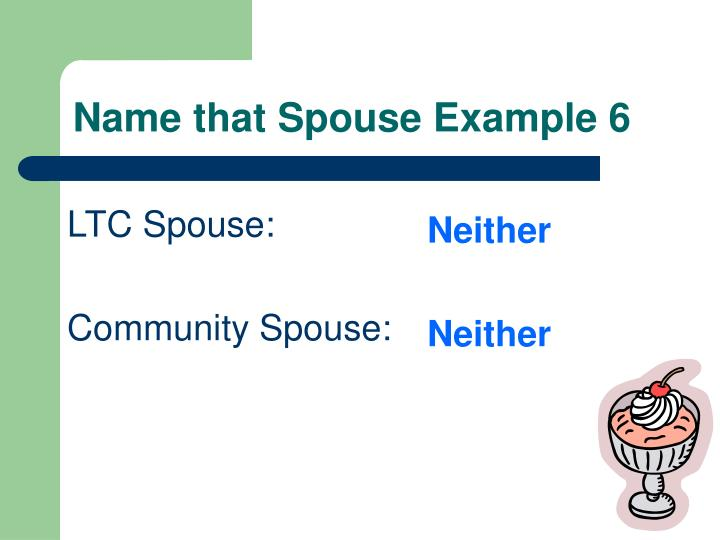 Name that Spouse Example 6