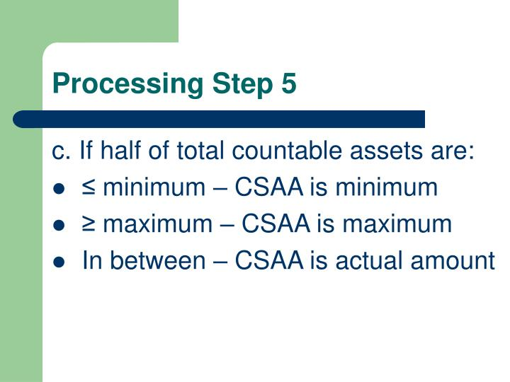 Processing Step 5