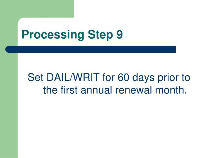 Processing Step 9