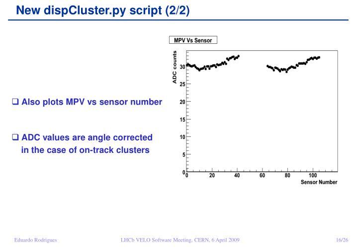 New dispCluster.py script (2/2)