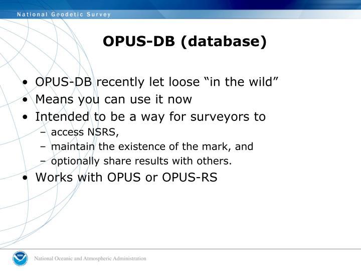 OPUS-DB (database)