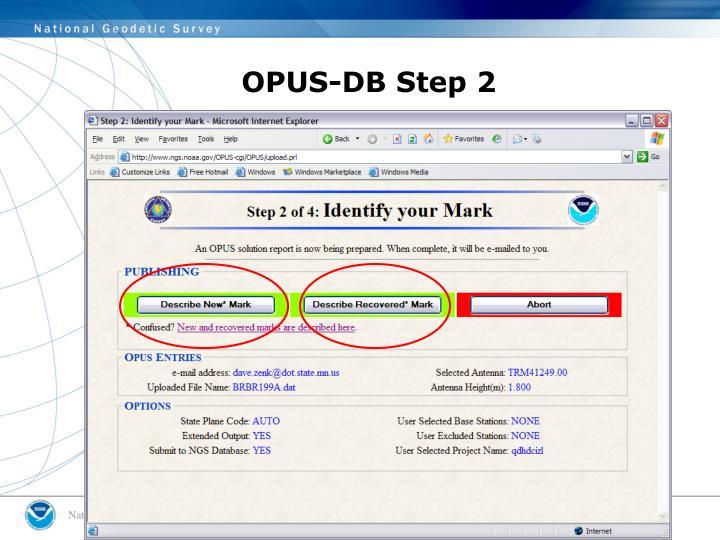 OPUS-DB Step 2