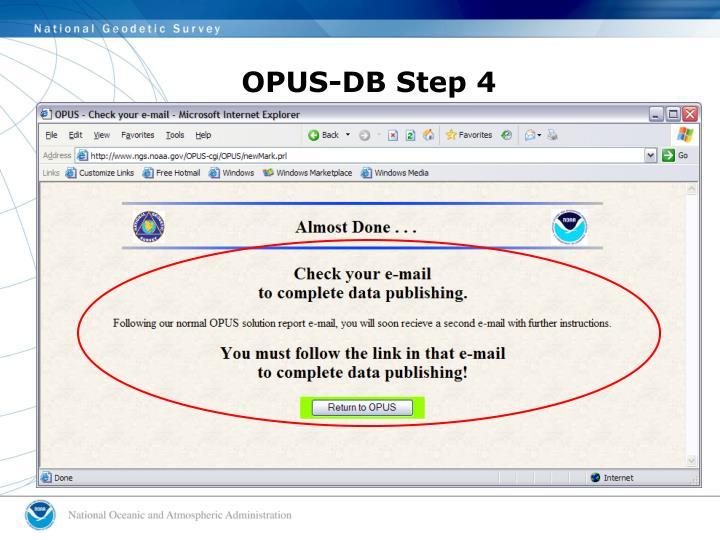 OPUS-DB Step 4