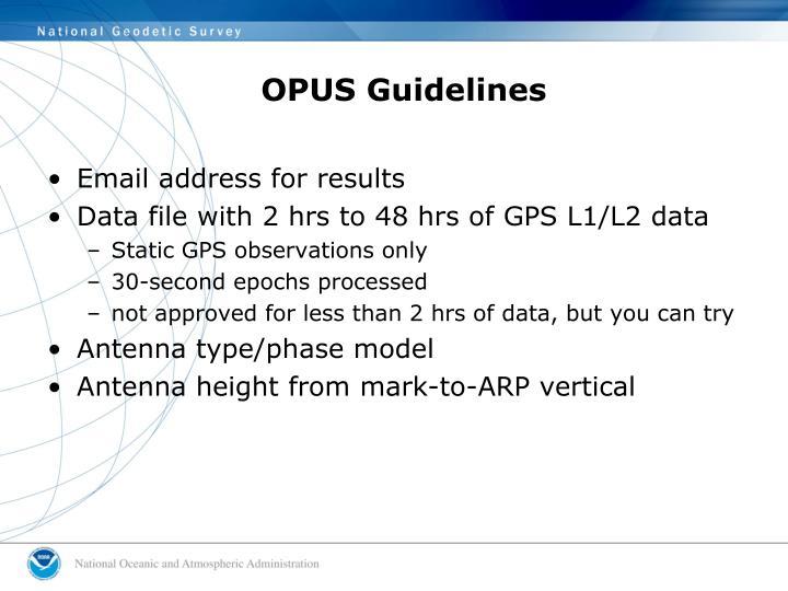 OPUS Guidelines