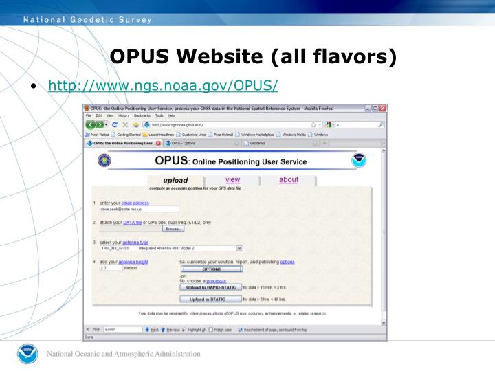 OPUS Website (all flavors)